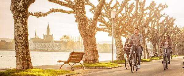 Radfahren im Sonnenschein